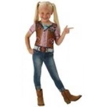 Cowgirl T-skjorte Karnevalskostyme Barn