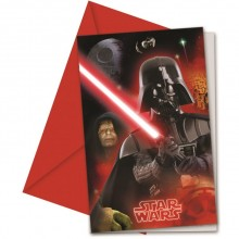 Star Wars Invitasjoner Final Battle 6 stk.