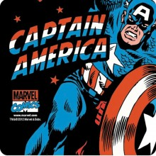 Captain America Glassunderlag 6-pakning