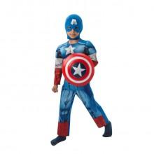 Captain America Kostyme Deluxe Barn