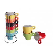 Espressokopper i Stativ 6-pakning