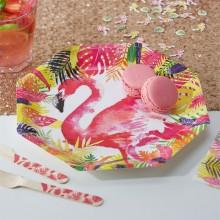 Tallerken Flamingo Deluxe 8-Pakning