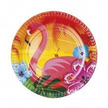 Tallerkener Flamingo 6-pakning