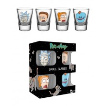 Rick & Morty Shotglass 4 stk