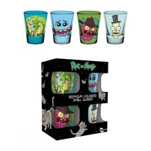Rick And Morty Premium Shotsglass 4-pakning