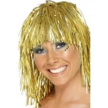 Glitterparykk Gull