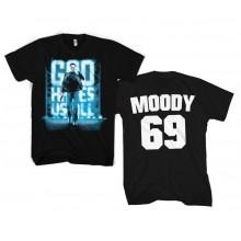 T-Skjorte God Hates Us All - Moody 69 (Sort)
