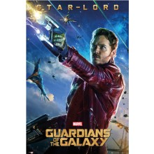 GUARDIANS OF THE GALAXY STAR LORD PLAKAT