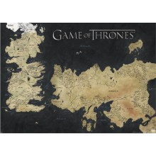 PLAKAT STOR GAME OF THRONES (MAP OF WESTEROS & ESSOS)