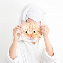 Håndklær Katt Ansikt