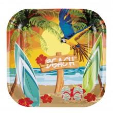 Tallerkener Hawaii Strand 6-pakning
