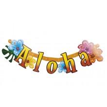 Bokstavbanner Aloha 83 cm