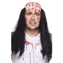 Peruk Blodig Hjärna Halloween
