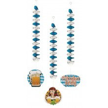 Spiral Dekorasjon Oktoberfest 3-pakning