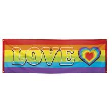 Banner Regnbue Love 74x220 cm