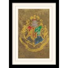 Harry Potter Innrammet Plakat Hogwarts Crest