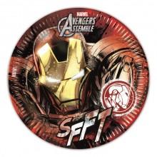 Iron Man Papptallerkener 8-pakning
