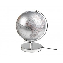 Jordklodeglobus Lampe Sølv