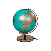 Globus Lampe Turkis & Kobber