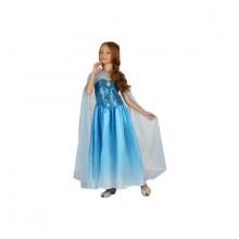 Kjole Med Kappe Blå Karnevalskostyme Barn