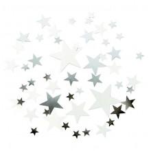 Konfetti Stjerner Elegant Sølv