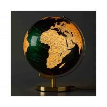 Globus Lampe Grønn & Messing