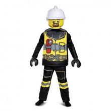 LEGO Brannmann Deluxe Karnevalskostyme Barn