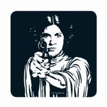 Star Wars Prinsesse Leia Drikkeunderlag
