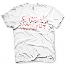 Star Wars The Last Jedi Logo Hvit t-skjorte