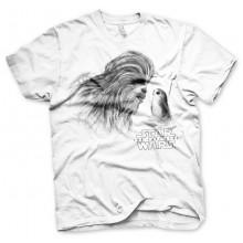 Star Wars The Last Jedi Chewbacca & Porg t-skjorte