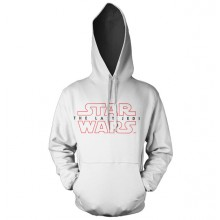 Star Wars The Last Jedi Logo Hvit Hoodie