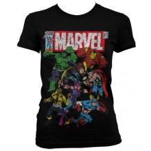T-Skjorte Marvel Comics - Team-Up Dame (Sort)