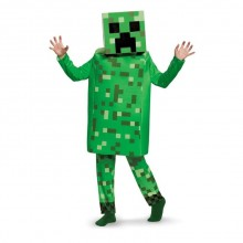 Minecraft Creeper Deluxe Karnevalskostyme Barn