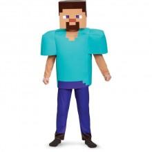 Minecraft Steve Deluxe Karnevalskostyme Barn