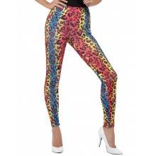 Neon Leggings Leopardmønster