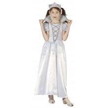 Prinsesse Hvit Karnevalskostyme Barn