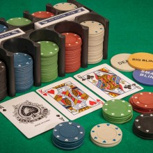 Pokerset och Black Jack Set