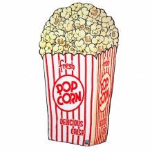 Mykt Pledd Popcorn