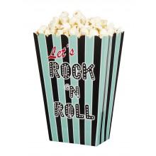 Popcornskål Rock 50-tall 4-pakning