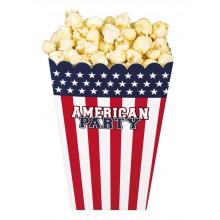 Popcornskål USA 4-pakning