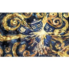 Doctor Who Tardis Exploding Canvas 60 X 80 Cm