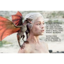 PLAKAT GAME OF THRONES (I AM DAENERYS)