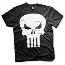 T-Skjorte The Punisher Skull (Sort)