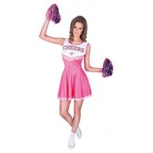 Cheerleader Rosa Karnevalsdrakt