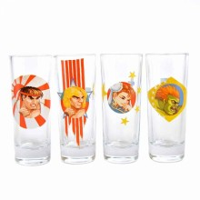Street Fighter Shotglass 4-pakning