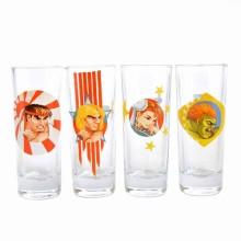 Street Fighter Shotglass 4-pakning