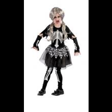 Skelettflicka Maskeraddräkt Barn
