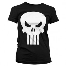 The Punisher Skull Dame T-Skjorte (Sort)