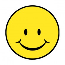 Glad Smiley-Figur, 33Cm