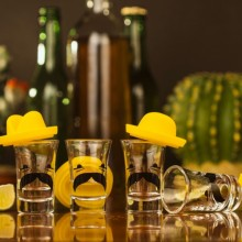Shotglass Meksikansk Sombrero 4-pakning